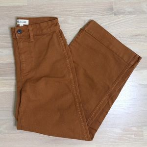 Madewell Rust Cropped Pants